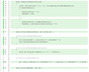 Report generator code coverage view