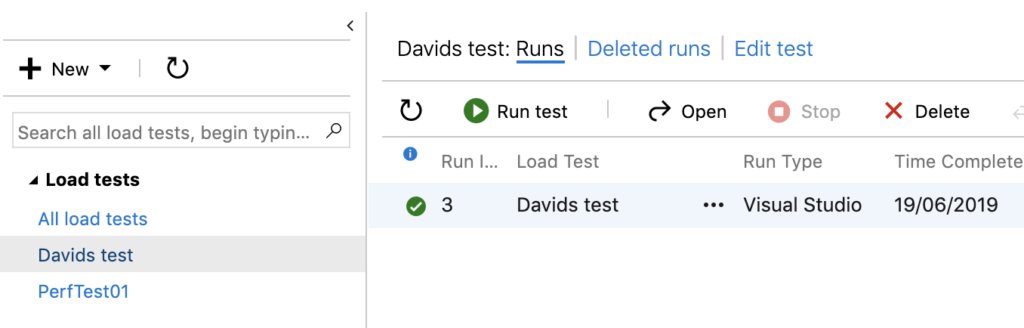 example of the azure devops load test library