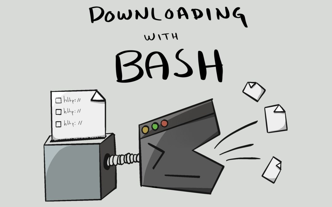 How to download a list of URLs using bash